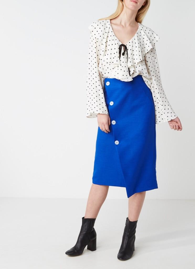 topshop-blouse-met-volant-en-stippendessin
